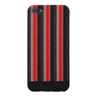 Elegantes Schwarz-weißes gestreiftes Schnurbeschaf Schutzhülle Fürs iPhone 5