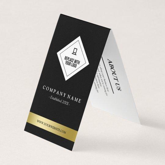 Elegantes Schwarz Weißes U Imitat Gold Ihr Visitenkarten