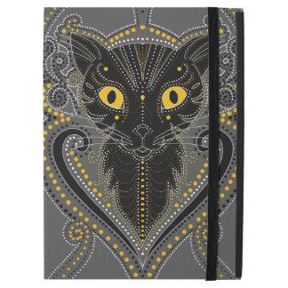 Elegantes schwarze Katze iPad Proabdeckung