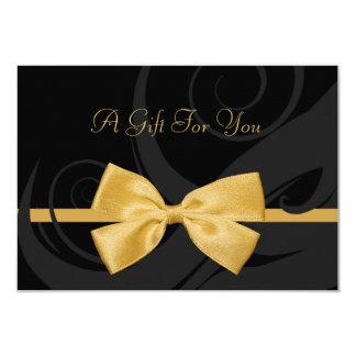 Elegantes schwarzes 8,9 x 12,7 cm einladungskarte
