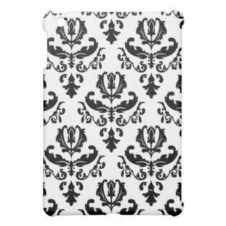 Elegantes Schwarzes auf weißem Damast Hülle Fürs iPad Mini