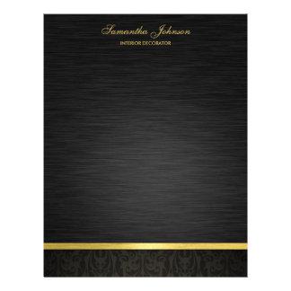 Elegantes Schwarzes und Gold 21,6 X 27,9 Cm Flyer
