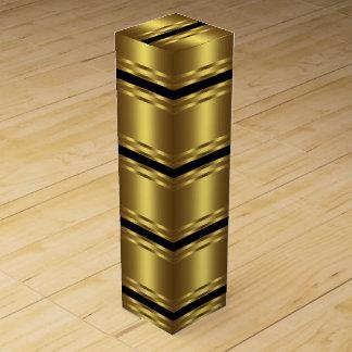 Elegantes Schwarzes und Gold Wein-Geschenkverpackung