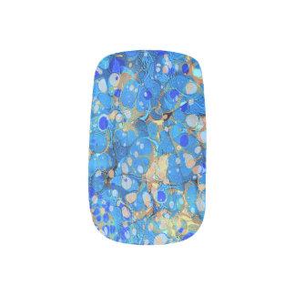 Elegantes Seeblaues schönes Muster mit Spitze Minx Nagelkunst