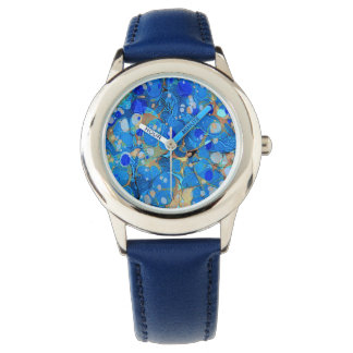 Elegantes Seeblaues schönes Muster mit Spitze Uhr