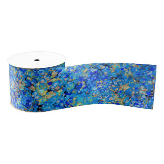 Elegantes Seeblaues schönes Muster Ripsband