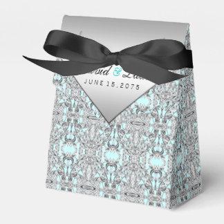 Elegantes Silber und aquamarine blaue Hochzeit Geschenkschachteln