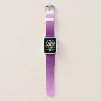 Elegantes Steigungs-Rosa Apple Watch Armband
