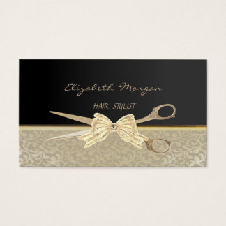 Elegantes stilvolles Chic, Damast, Schwarzes, Visitenkarte