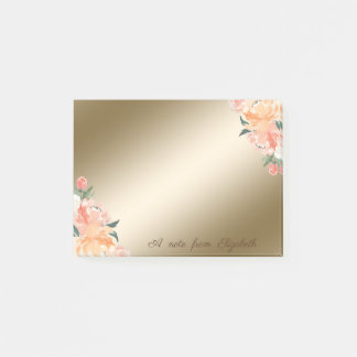 Elegantes stilvolles, Girly, Watercolor-Blumen Post-it Klebezettel