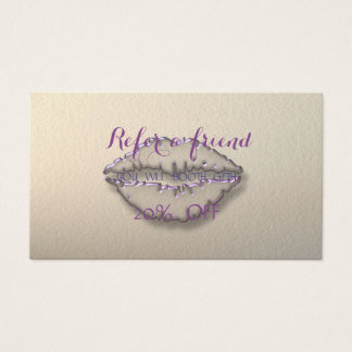 Elegantes stilvolles, Lippenempfehlungs-Karte Visitenkarte