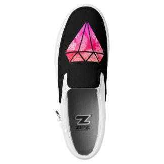 elegantes stilvolles rosa orange Diamantmit Slip-On Sneaker