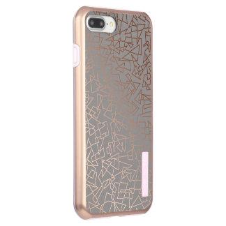 Elegantes stilvolles Rosengoldgeometrisches Incipio DualPro Shine iPhone 8 Plus/7 Plus Hülle