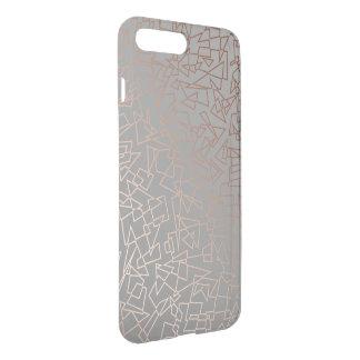 Elegantes stilvolles Rosengoldgeometrisches iPhone 8 Plus/7 Plus Hülle