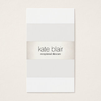Elegantes stilvolles weißes modernes IMITAT Silber Visitenkarte