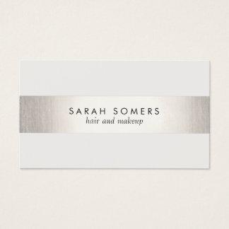Elegantes stilvolles weißes modernes IMITAT Silber Visitenkarten