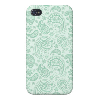 Elegantes tadelloses grünes Vintages Blumenpastell iPhone 4/4S Hülle