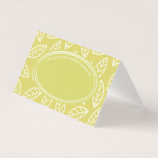 Elegantes tropisches Blatt-Hochzeits-Party Platzkarte