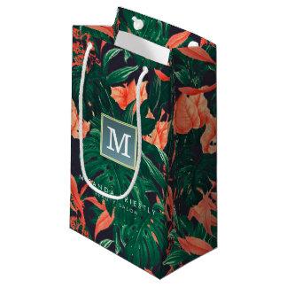 Elegantes tropisches modernes Goldrahmen-mit Kleine Geschenktüte