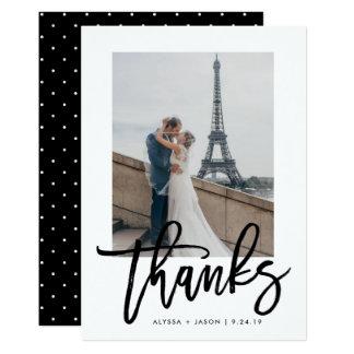 Elegantes | Typografie-und Hochzeits-Foto des 12,7 X 17,8 Cm Einladungskarte