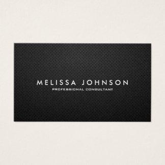 Elegantes u. modernes schwarzes und silbernes visitenkarte