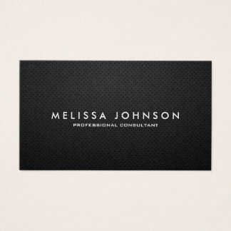Elegantes u. modernes schwarzes und silbernes visitenkarten