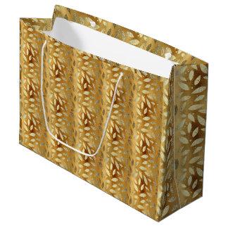 Elegantes und glänzendes GoldBlätter Große Geschenktüte