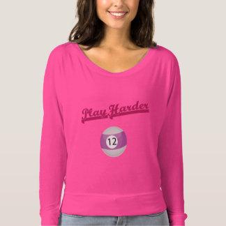 Elegantes und stilvolles rosa Fluss-Schulter-Shirt T-shirt