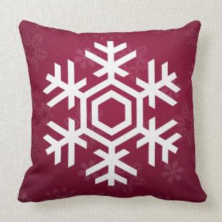 Elegantes und stilvolles Schnee-Muster-Weihnachten Kissen
