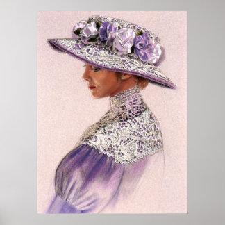 Elegantes viktorianisches Lavendel-Damendekor-Kuns