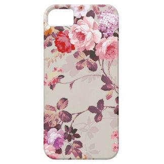 Elegantes Vintage Rosen-Muster, Rosa und rot iPhone 5 Schutzhüllen