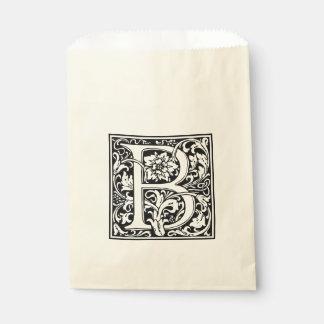 Elegantes Vintages Blumenmonogramm des buchstabe-B Geschenktütchen