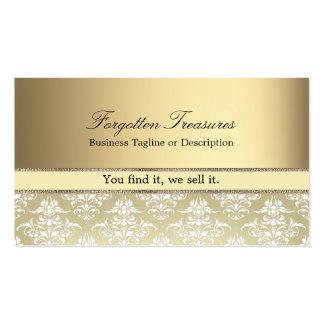 Elegantes Vintages goldenes Damast-Muster Visitenkarten