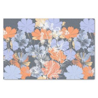 Elegantes Vintages graues violettes orange Seidenpapier