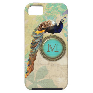 Elegantes Vintages Pfau-Monogramm iPhone 5 Case