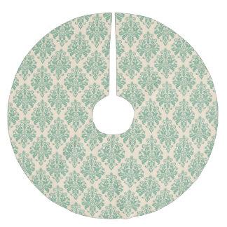 Elegantes Vintages Retro Damast-Muster Polyester Weihnachtsbaumdecke