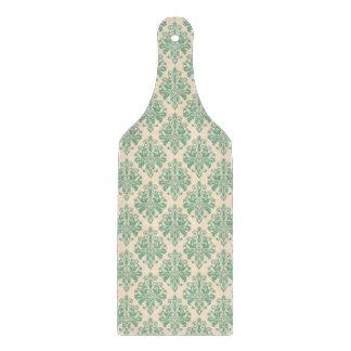 Elegantes Vintages Retro Damast-Muster Schneidebrett