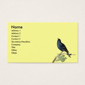 Elegantes Vintages schwarzes Vogel-Gelb Visitenkarte
