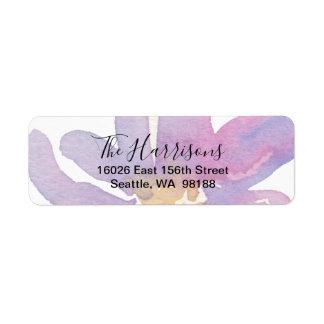 Elegantes violettes Lavendel-Aquarell mit Blumen