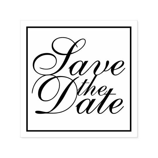 Elegantes Wedding Save the Date Permastempel