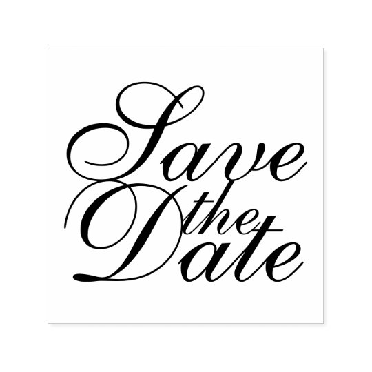 Elegantes Wedding Save the Date Permastempel