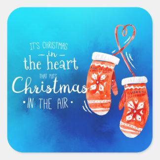 Elegantes Weihnachten im Aufkleber-Siegel des Quadratischer Aufkleber