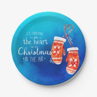 Elegantes Weihnachten im PapierTeller des Herz- 