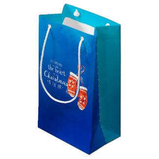 Elegantes Weihnachten in der Geschenk-Tasche des Kleine Geschenktüte