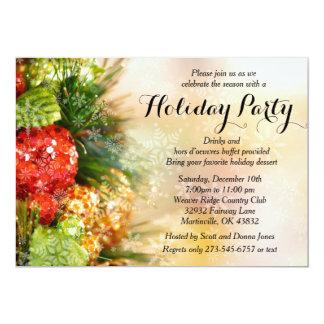 Elegantes Weihnachtsbaum-Feiertags-Party 12,7 X 17,8 Cm Einladungskarte