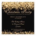 Elegantes WeihnachtsParty-Goldschimmernde Lichter Quadratische 13,3 Cm Einladungskarte