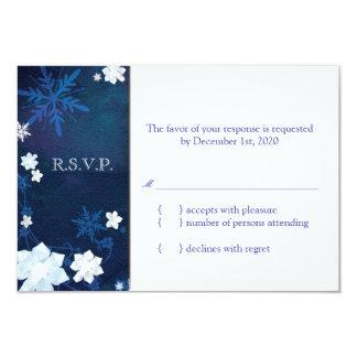 Elegantes Winter-Hochzeit UAWG des Blau-n weißes Karte