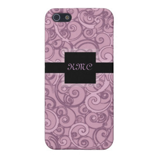 Elegantes Wirbels-Monogramm iPhone 5 Cover