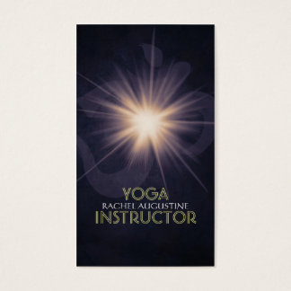 Elegantes Yoga OM-Symbol und reiner heller dunkler Visitenkarte