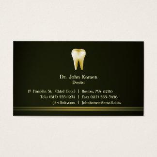Elegantes zahnmedizinisches visitenkarte